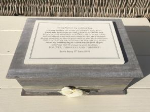 Shabby Chic LARGE Box Mother of the Bride personalised Wedding Rustic Memory Box - 232700019569